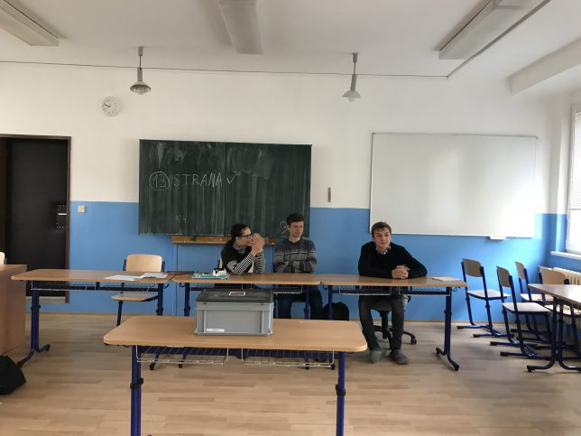 Jak by volili studenti do Europarlamentu na Gymnáziu Chodovická