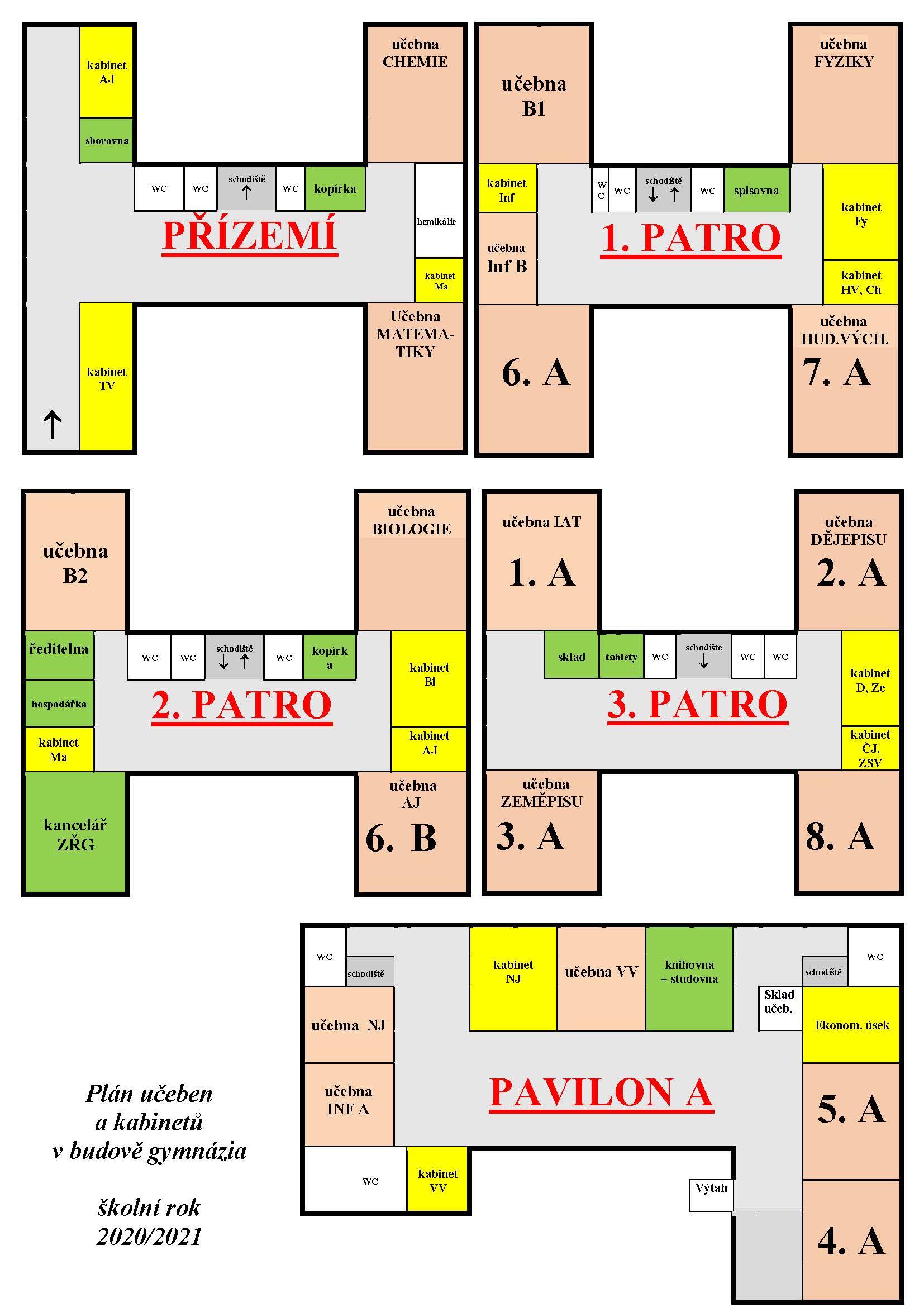 Plánek školy HP