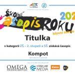 Časopis Kompot – první místo vkrajském kole soutěže Školní časopis roku